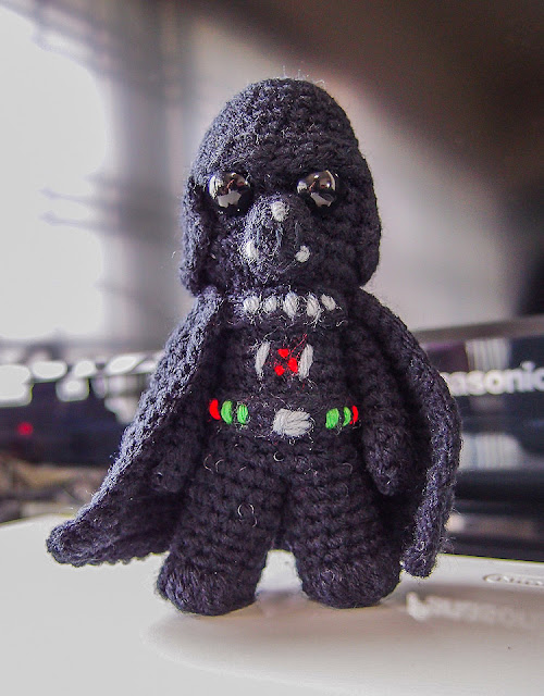 crocheted darth vader amigurumi
