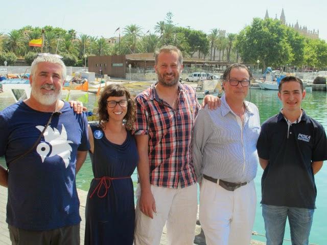 Manolo científico, Anita comunicadora, Giacomo científico, Antoni Garau pesca comercial, Josep Alba pesca recreativa