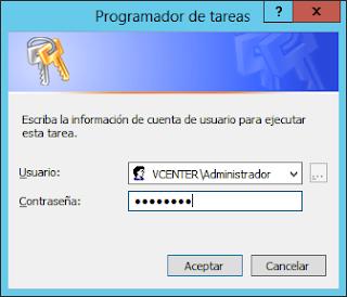 Programador de tareas - Credenciales
