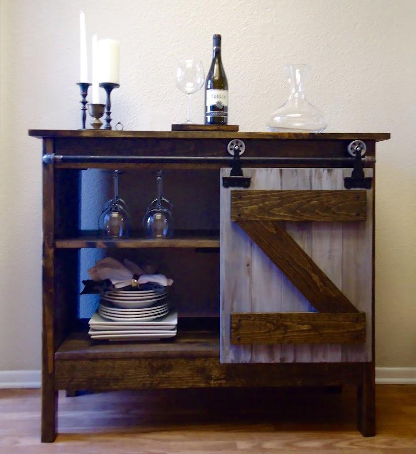 Barn Door Style Cabinet - SOLD