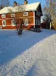 Vårt nya hus på vintern