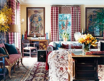 Curtains Ideas chinoiserie curtains : Chinoiserie Chic: Buffalo Checks and Chinoiserie