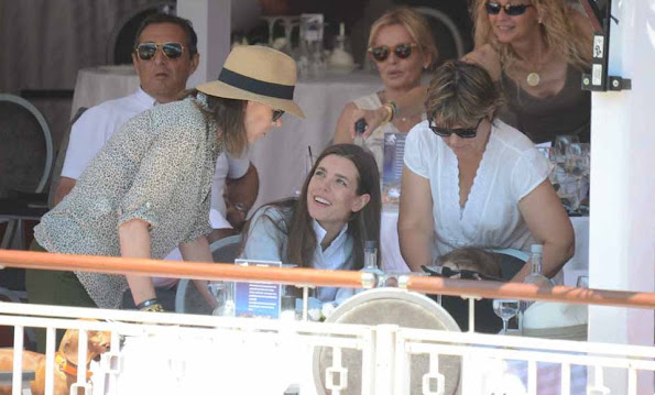 Charlotte Casiraghi, son Raphael with the grandmother Princess Caroline of Hanover