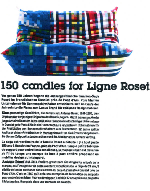 Cristian Zuzunaga - 150 candles for Ligne Roset
