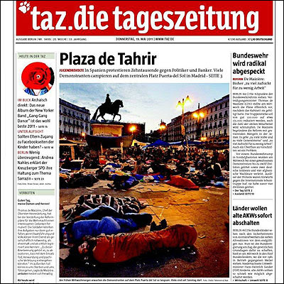 Portada prensa internacional movimiento 15M