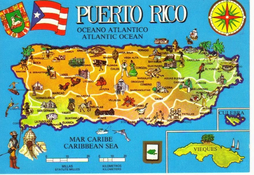 It's just a picture of Fabulous Printable Map of Puerto Rico