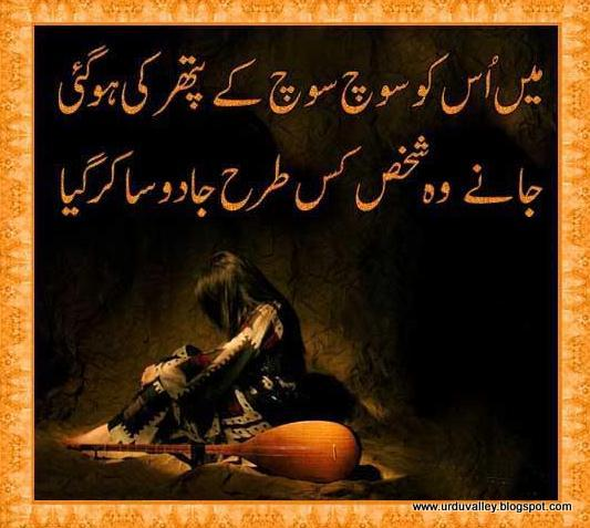 poetry in urdu, hindi love poetry, love poetry, two lines poetry, urdu full poetry, urdu ghazal, urdu lovve poetry, Mai Us Ko Soch Soch Kay Pathar Ki Ho Gaye,