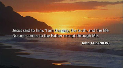 John 14:6 Sun Set Background