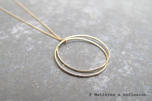Collier rings en vermeil Trois Petits Points