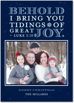 Behold Joy Christmas Card