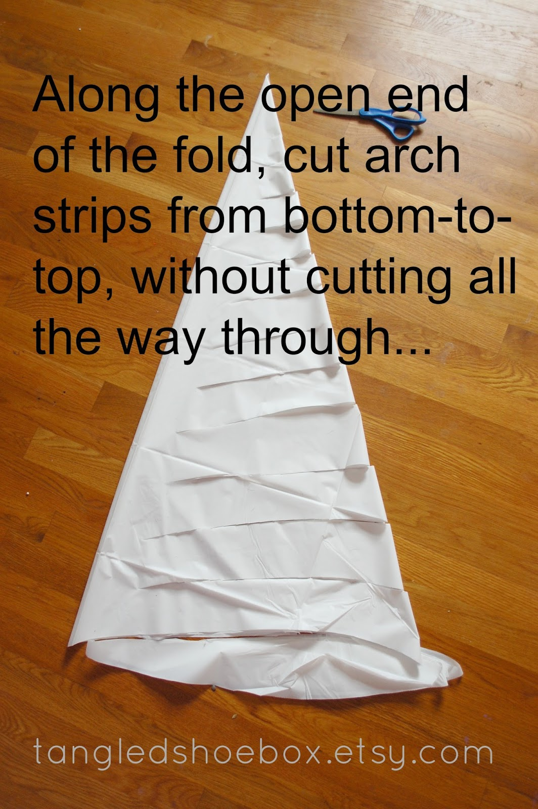 **If You Want To Make A Smaller Spider Web/s, You Can Cut The Bottom Arch  Closer To The Point Of The Fold...like Maybe Half Way Up Or So Verses The  Very ...