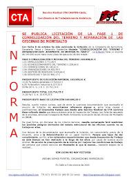 SE PUBLICA LICITACIÓN DE LA FASE 1 DE CONSOLIDACIÓN DEL TERRENO Y REPARACIÓN DE LAS OFICINAS DE MON