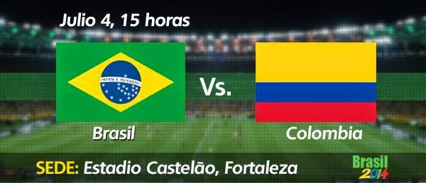 Partido Brasil vs Colombia Cuartos de Final