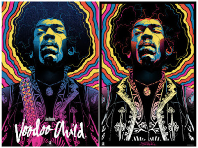 """Jimi Hendrix, Voodoo Child"" Screen Print by Gabz x Dark Hall Mansion"