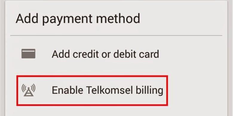cara aktivasi metode pembayaran potong pulsa telkomsel