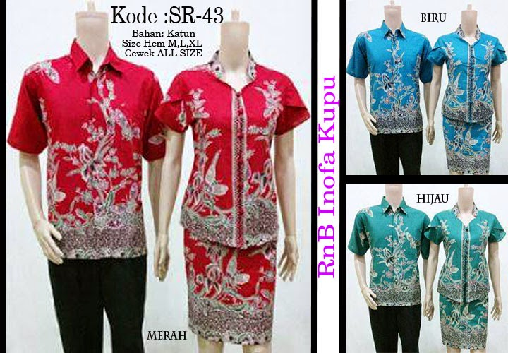 Batik Couple RnB Inofa Kupu