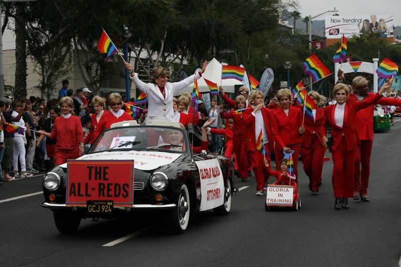Gloria Alred WEHO Pride Parade 2011