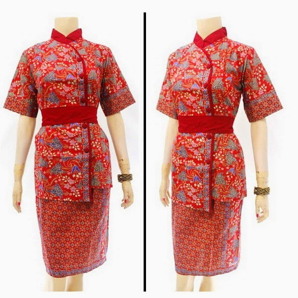 DB3812 Model Baju Dress Batik Modern Terbaru 2014