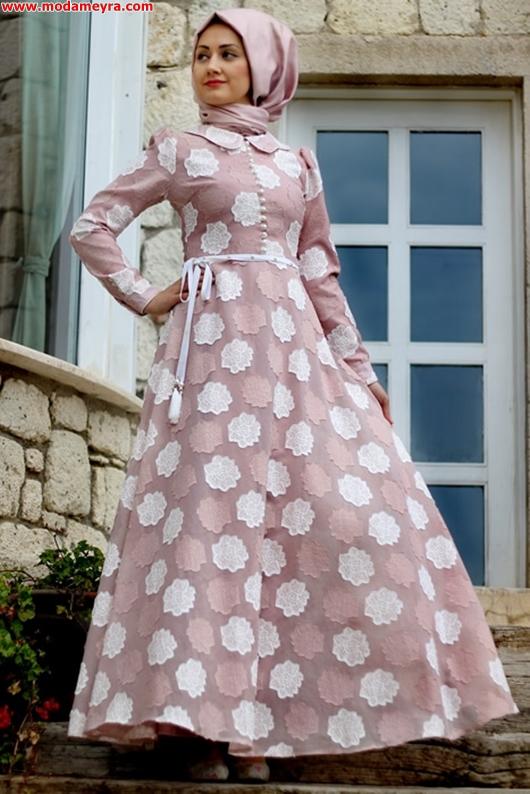 Minel Aşk şifon tesettür elbise
