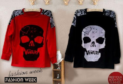Atasan Skull The Venture Long Sleevess - 7548