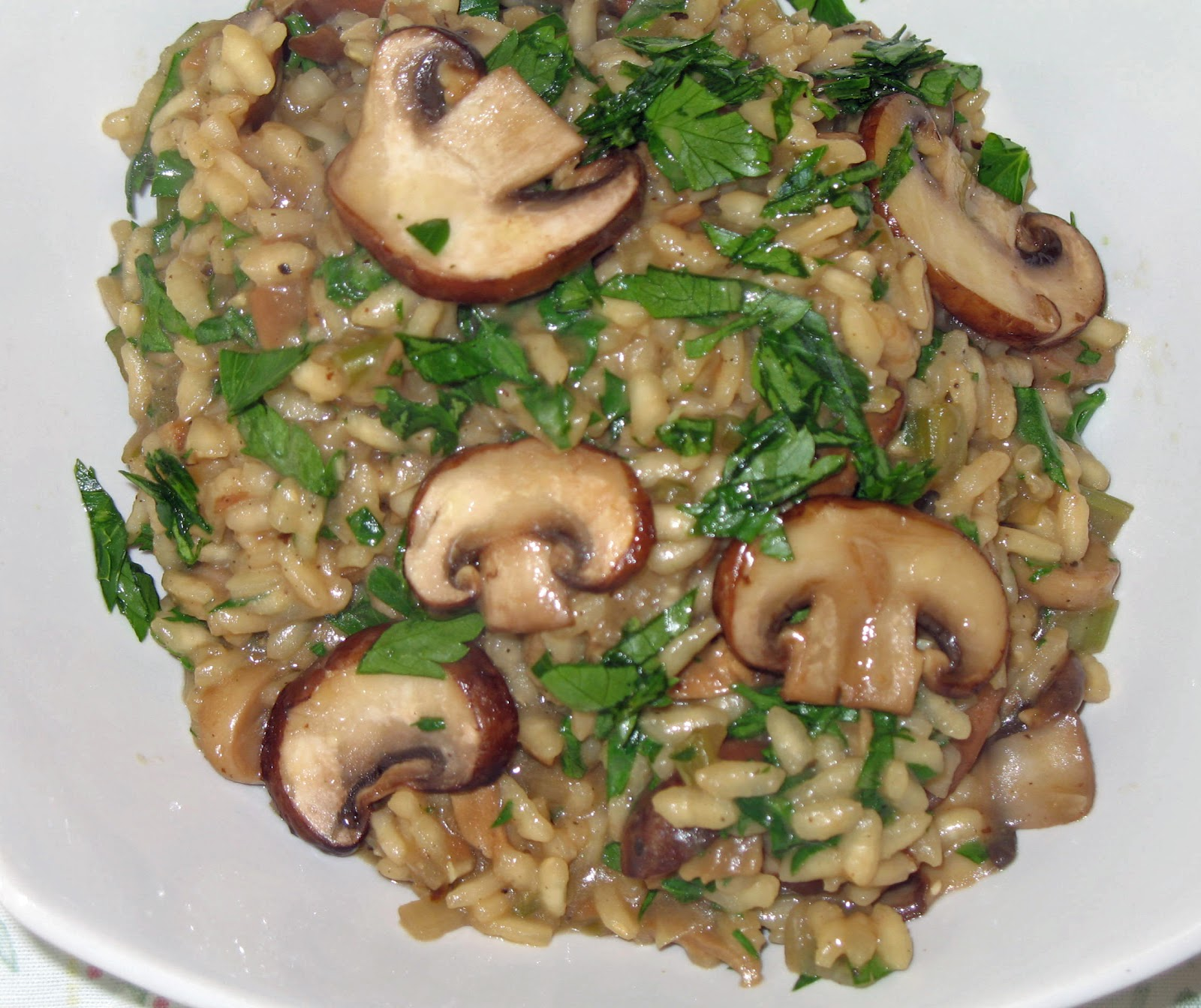 The Happy Housewife: Garlic Mushroom Risotto