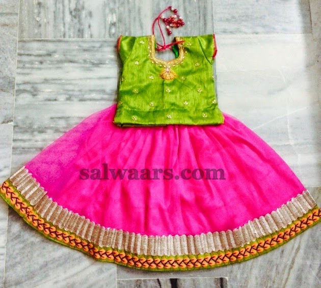 Baby Pink Lehenga with Rich Blouse