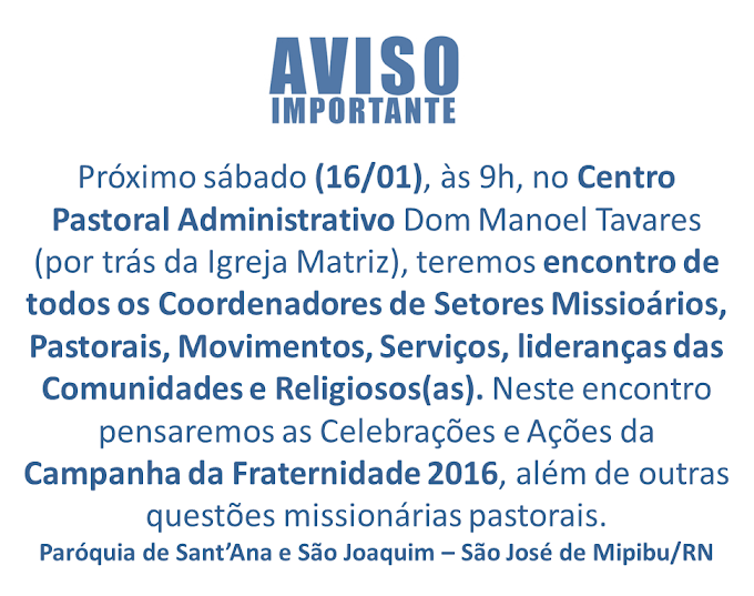 ENCONTRO DE FORMAÇÃO (16/01/2016)