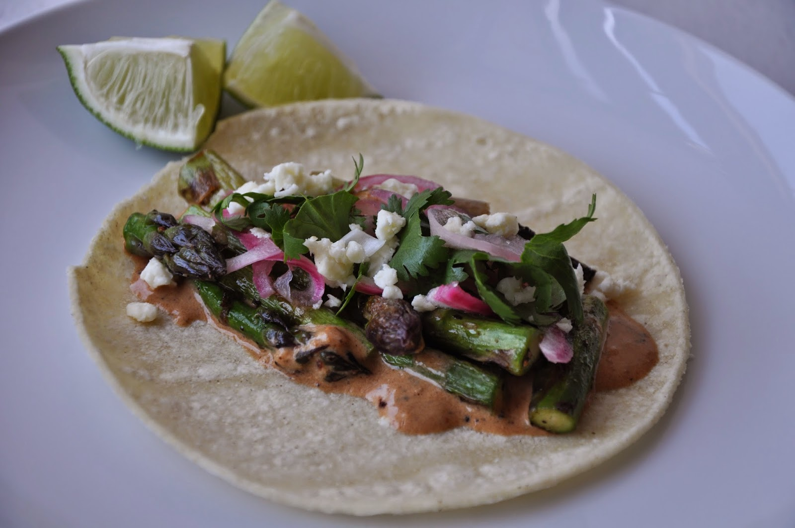 ... Rice: Charred Asparagus Tacos with Creamy Adobo and Pickled Red Onions
