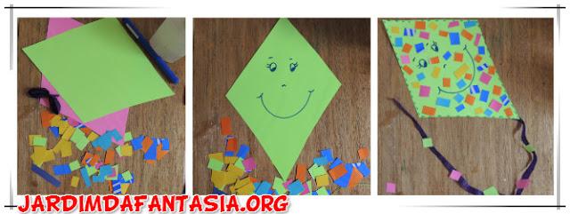 Atividade Figura Geométrica Losango e Colagem Pipa