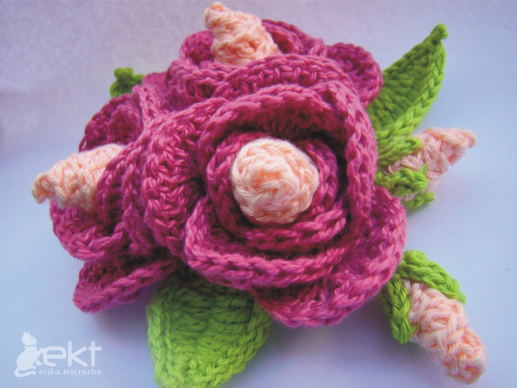 Flower Pattern In Crochet : crochet flower pattern-Knitting Gallery