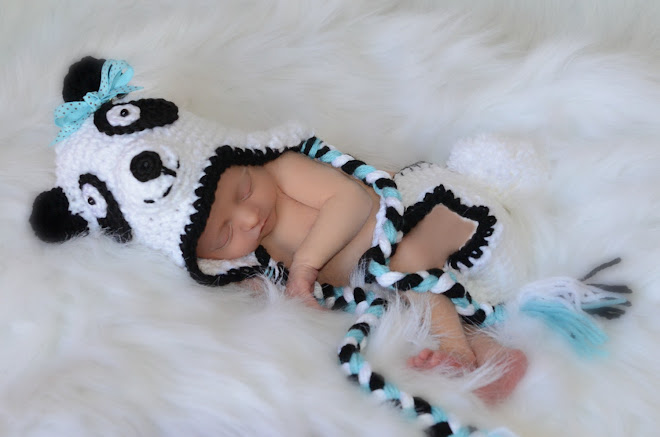 Newborn Panda Bear Hat and Diaper Cover
