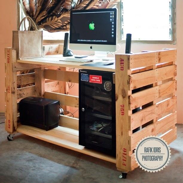 Fant stico escritorio para pc con 2 for Muebles para computador