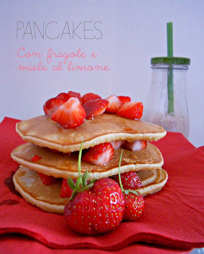 pancakes alle fragole - strawberries pancakes