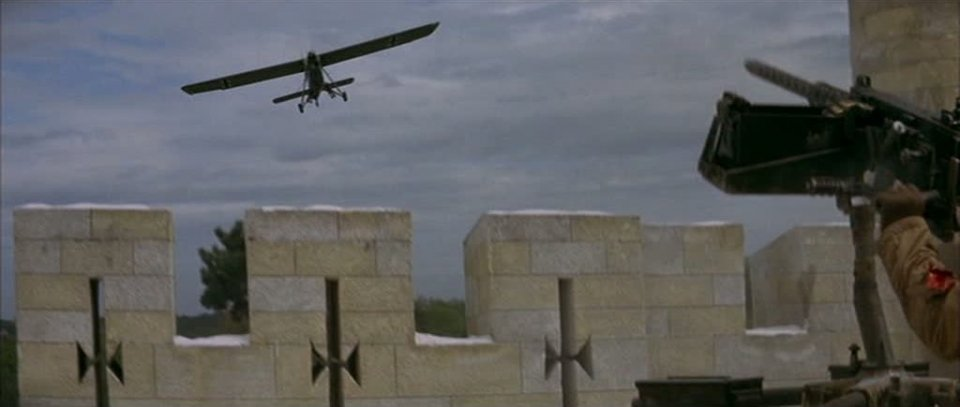 An enemy recon plane in Castle Keep 1969 movieloversreviews.blogspot.com
