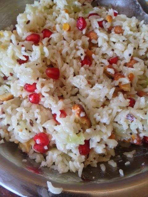 Seasoned spicy curd rice