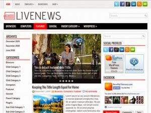 LiveNews - Free Wordpress Theme