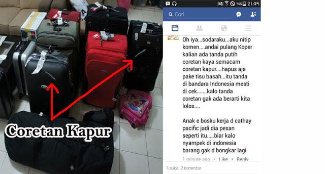 Jika Koper Anda Ada Coretan Kapur, Hapus Saja !! Itu Tandanya Akan Diperiksa Petugas Bandara