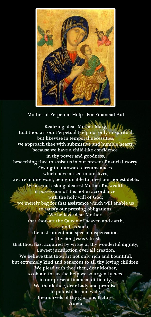 Mother of Perpetual Help - For Financial Aid