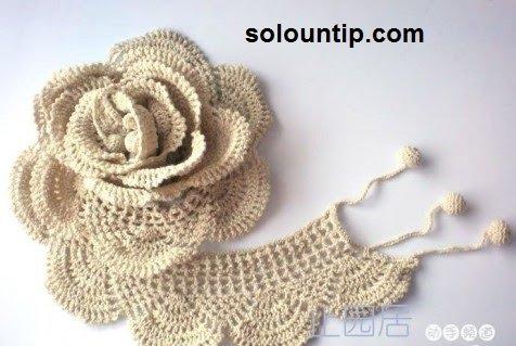 Ganchillo Pattern : Puntilla a crochet para imprimir ~ Solountip.com