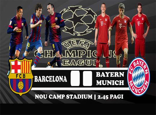 Keputusan Barcelona vs Bayern Munich 2 Mei 2013 - UEFA Champions League