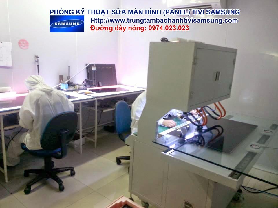 Hình ảnh phòng kỹ thuật sửa màn hình tivi SAMSUNG