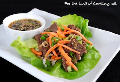 Sesame Beef Lettuce Wraps