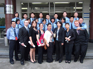 SHSU Student met with police cadets from Zhejiang Police College in China.