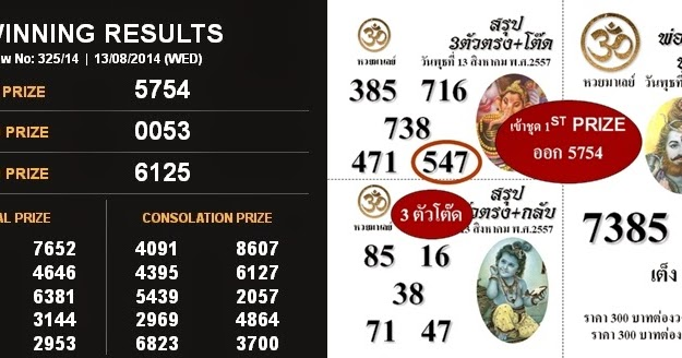 thai lottery result 2017