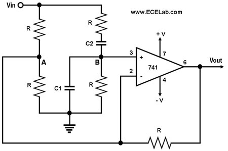 wien bridge notch filter circuit diagram - the circuit, Wiring circuit