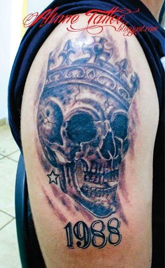 Caveira Coroa Tattoo