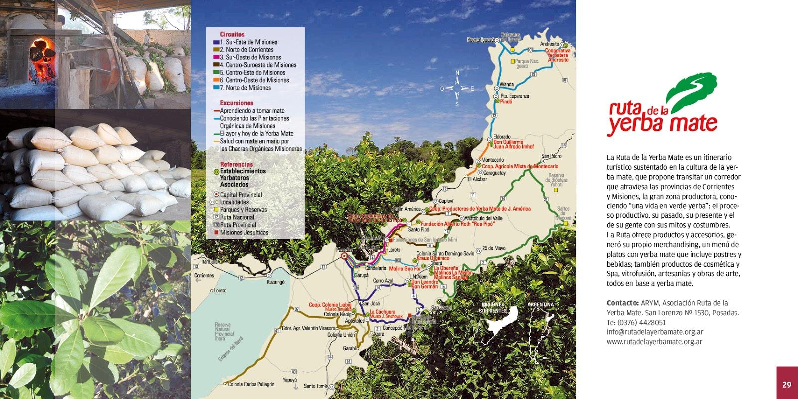 Circuito Yerba Mate : Noticias de la ruta de la yerba mate nueva folleteria de misiones