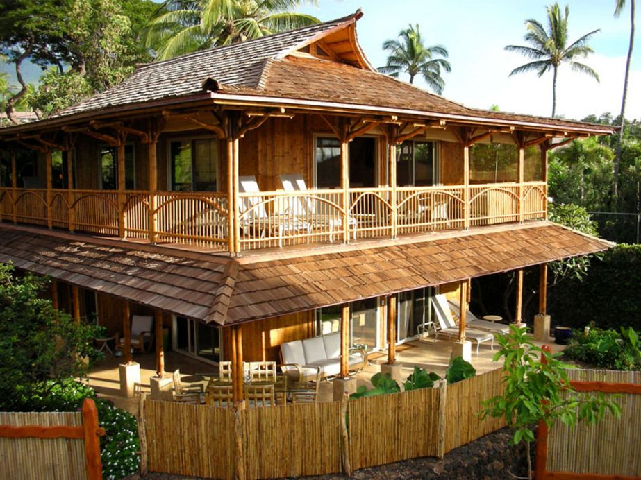 fasad rumah bambu minimalis idaman