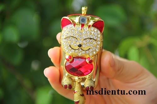 Điện thoại mèo con đính đá Luxury N111