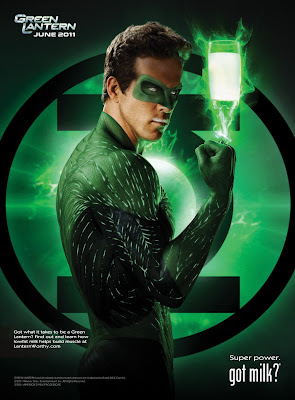 Green Lantern Got Milk Ad featuring Ryan Reynolds